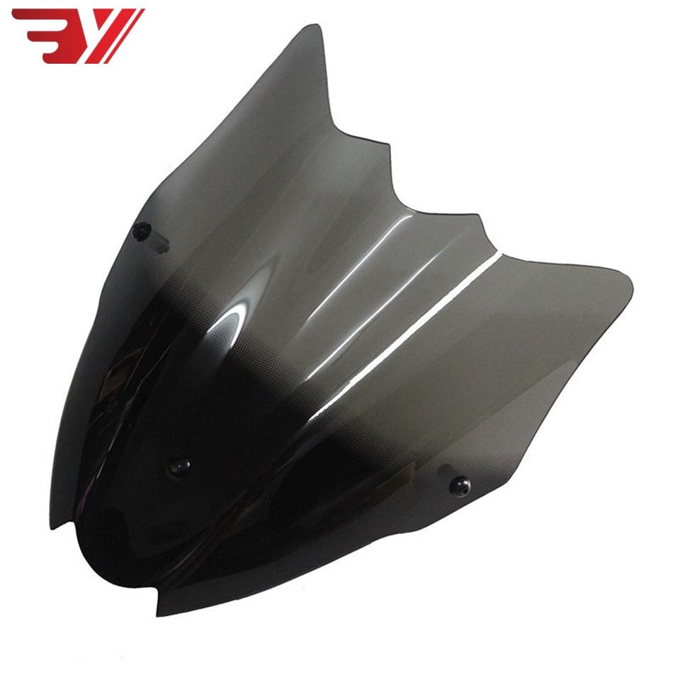 Motorcycle Accessories Sports Double Bubble Windshield WindScreen Visor Viser Fits For Sukuzi GSR750 GSR 750 Gsr 750 2011 -2016