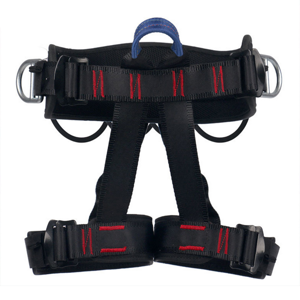 Outdoor Climbing Protect Waist Safety Harness Half Body Harness for Mountaineering Fire Rescuing Rock Climbing Rappelling 1pc-in Climbing Accessories from Sports & Entertainment    1
