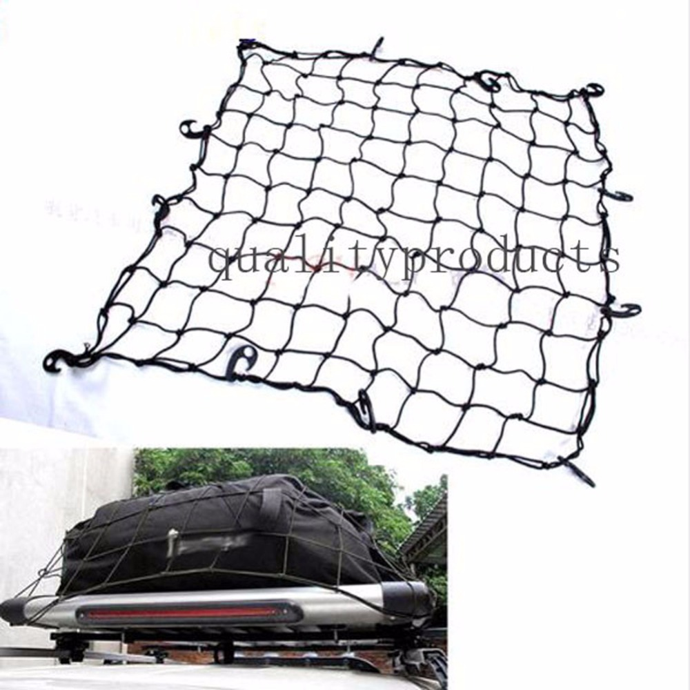 110*98 Universal Car SUV Truck Trailer Elastic Bungee Roof Luggage Rack Basket Cargo Net for Dodge Fiat Jeep Wrangler Compass