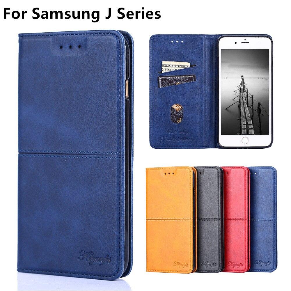 Luxury Leather Flip Case for Samsung Galaxy J2 Prime J3 J4 J5 J6 J7 J8 Plus Prime 2016 2017 2018 Wallet Magnet Cover Phone case