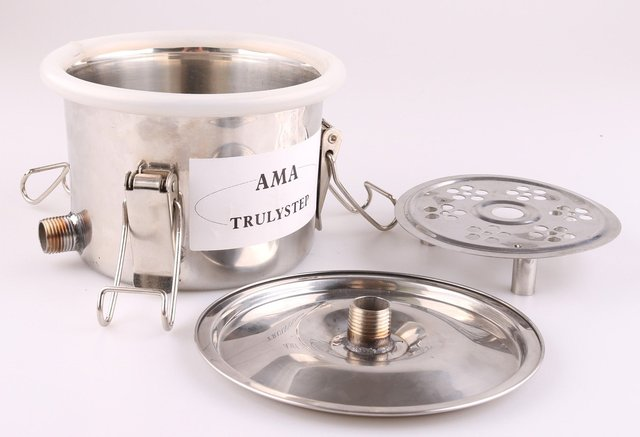 US $60 0 |Spare Parts for 3 Pots Moonshine Still / Distiller / Brewing Kit:  Stainless Middle / Spice / Fruit Pot & Bellows Pipes-in Bar Sets from Home