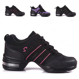 цена New Modern Dance Shoes Women Sports Feature Dance Sneakers Jazz Hip Hop Shoes Woman Dancing Shoe