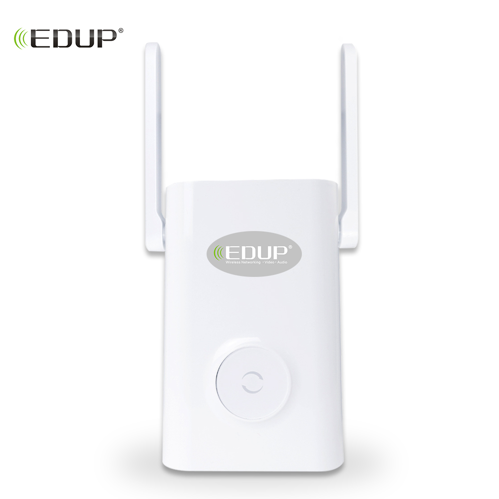 EDUP 1200Mbps Wireless WiFi Repeater Dual Band 2.4/5Ghz Wi-Fi Range Extender 2*4dBI Antennas 11AC Signal Amplifer Access Point comfast 1200mbps usb3 0 wi fi dual band 802 11ac a b g n wireless n 11ac 2 4g 5 8g wifi adapter rtl8812 network pc wifi receiver