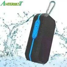 AMTERBEST Mini IP65 Waterproof Bluetooth Speaker Aux In for