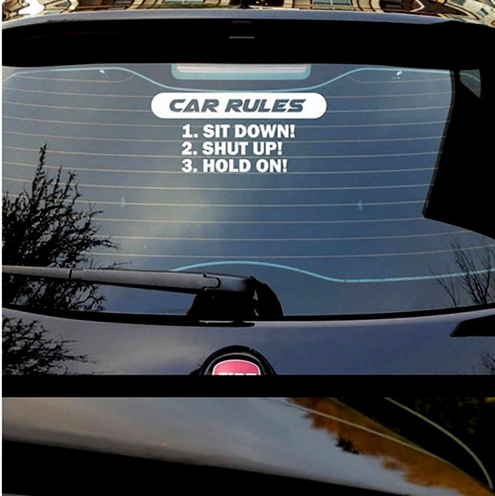 Personality Alphabet Rules Decal Slams Car Truck Vinyl Stickers Racing Window Decals Funny Black,White 19Mar4