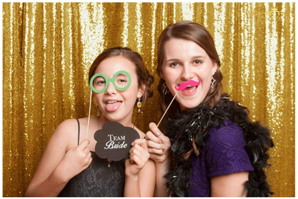 10FT*10FT White/Gold Sequin Backdrops,Party Wedding Photo Booth Backdrop Decoration,Sequin cur Birthday Party Decoration