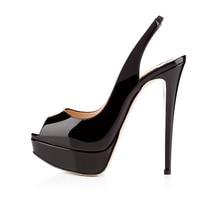 New fashion high heels Heel Fish mouth Waterproof Platform sandals pumps Slip-On Basic Shoes Wedding Party shoes цены онлайн