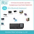 Новинка 2015! Rii K02 3 в 1! Mini Беспроводная Bluetooth клавиатура с лазерной указкой, подсвечивающимся тачпадом для ПК/Android/TV Box