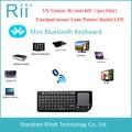 2015 RII K02 3IN1 MINI Teclado Sem Fio Bluetooth Teclado Retroiluminado Touchpad Laser Pointer para PC Andorid TV Box
