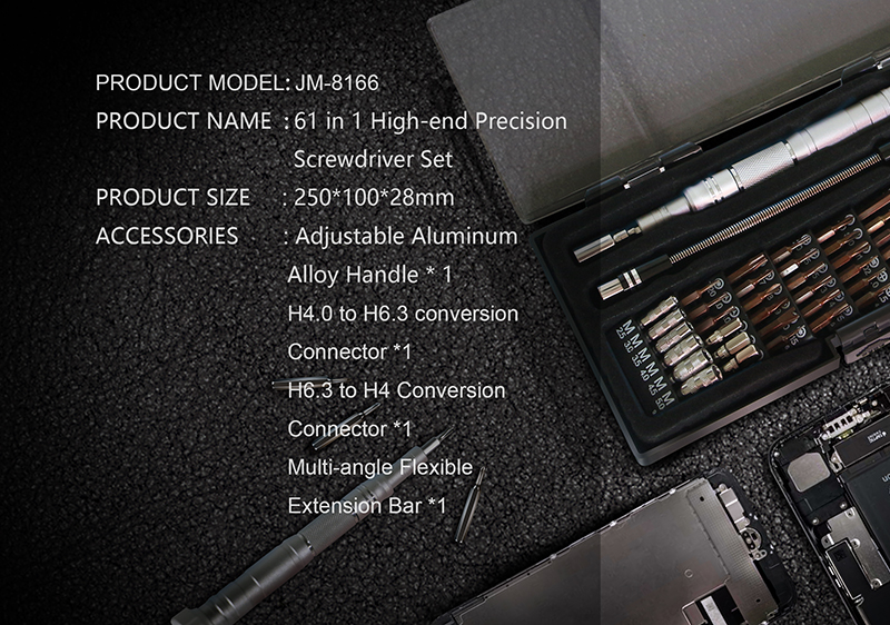 Premium Magnetic 61pc Precision Screw Driver Kit