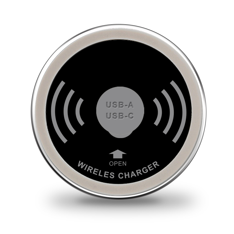Built in Desktop Device Qi Fast Wireless Charger 15W 10W 7.5W or 5W Quick Charger 3.0 Embedded Caricabatter Tipe C Chargeur
