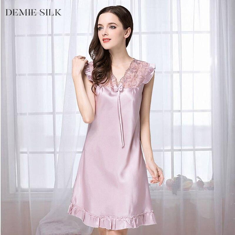 Demiesilk mujeres de color sólido de seda de imitación ropa de - Ropa de mujer