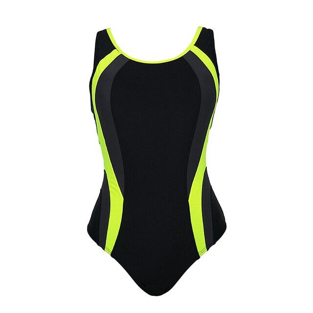 O Neck Athletic Style One Piece Swim Suit 2