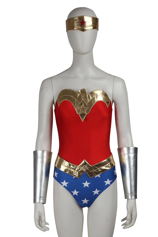 Wonder Woman Cosplay Costume Dress Adult Womens Halloween Carnival Costume Cosplay