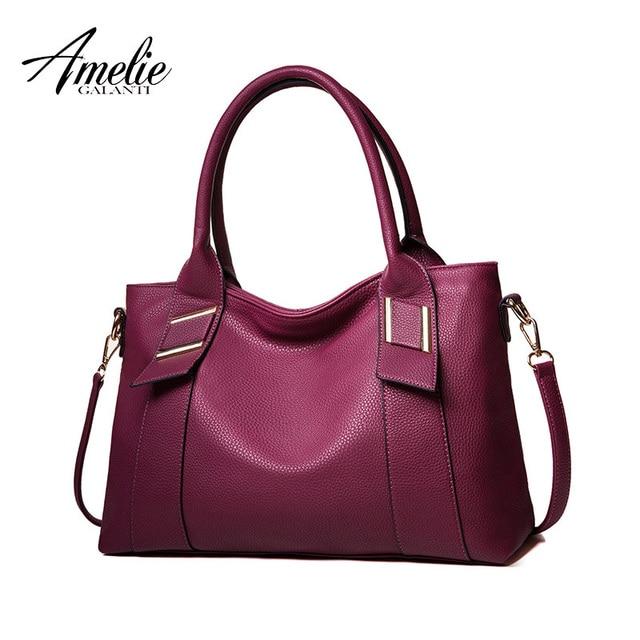 AMELIE GALANTI 2017 Women Handbags Casual Tote Crossbody bags Sequined Solid Zipper Versatile Single High quality PU