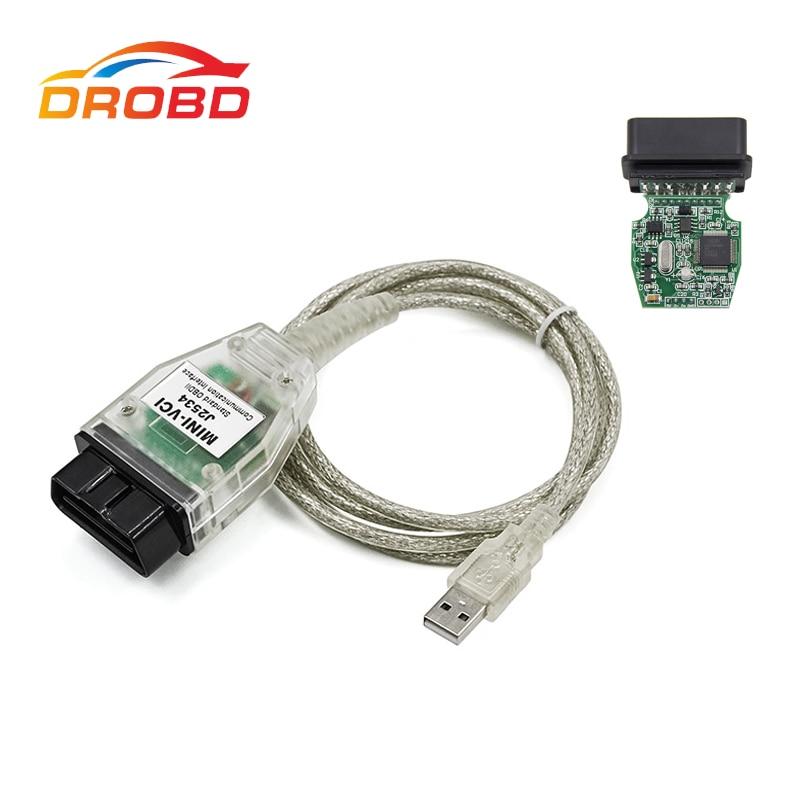 New V10.30.029 MINI VCI Interface TIS Techstream minivci FT232RL Chip J2534 OBDII OBD2 Diagnostic-Tool