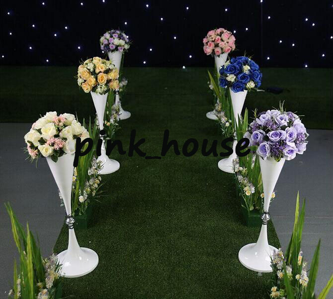 Aliexpress buy 70cm 27 inches tall white silver wedding flower aliexpress buy 70cm 27 inches tall white silver wedding flower vase bling table centerpiece sparkling wedding decoration banquet road lead from mightylinksfo