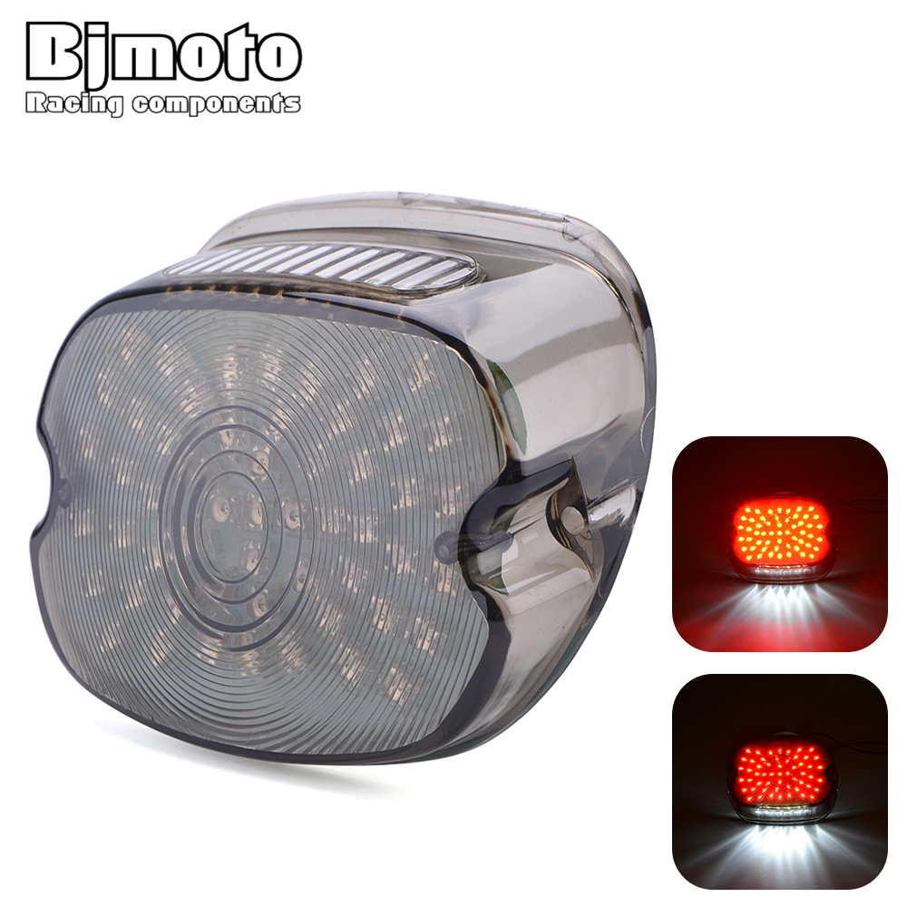 Bjmoto Retro motorcycle LED taillight brake light for Harley FLST FXST Electra Road Glides Tour Glides Road King FXDX/T Dynas XL|  - title=