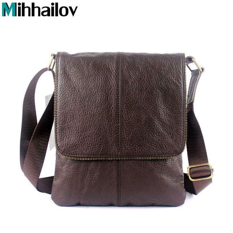100% Genuine Leather Men Bags Fashion Mens Messenger Bags Male Real Leather Business Bag Men Crossbody Handbags KY-34