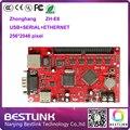 Zhonghang светодиодный контроллер карты zh-e6 256*2048 пикселей usb + серийный + ethernet порт привело платы управления p10 открытый светодиодная вывеска электронные светодиодные