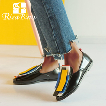 RIZABINA New Women Flats Shoes Fashion Brand Spring Womens Casual Low Heels Woman Slip On Date Footwear Size 32-43