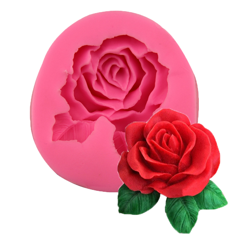 Rose Silicone Soap Mold Making Flower Form For Making Fondant Mould Silicon Cake Decorating DIY Mould Jabon Handmade Craft Tool