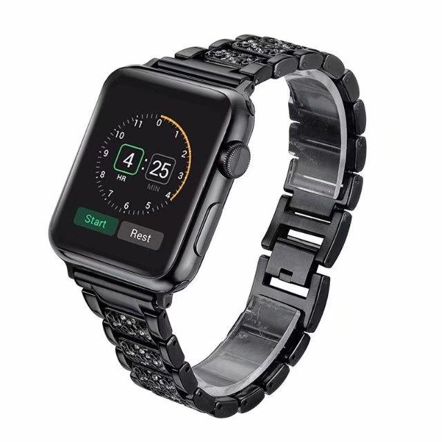 For Apple Watch 4 Wrist Bracelet Luxury Crystal Diamond iWatch Band Strap Replacement Band For Apple Watch Series 1 2 3 38-42mm ladies watch strap for apple watch series 1 2 3 wrist band luxury hand made by crystal bracelet for apple watch series 4 iwatch
