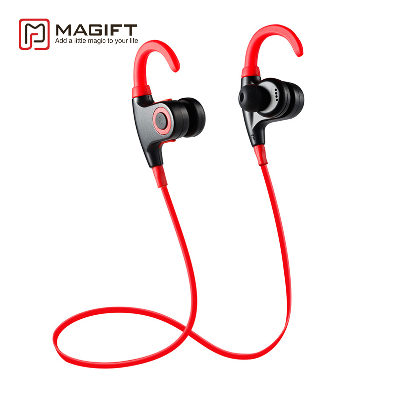 Magift Sports Ear Hook Headphone Wireless Earphone Waterproof Bluetooth Headset Earbuds with MIC for IPhone Android Xiaomi boas car driver bluetooth earphone wireless handsfree handphone base charger dock in ear hook headset with mic for iphone xiaomi