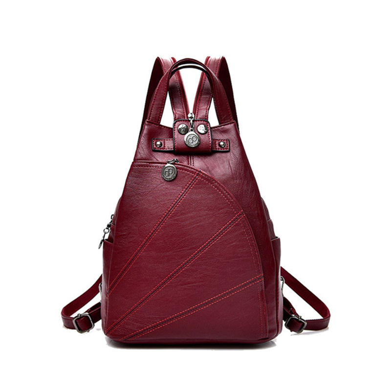 Fashion Women Backpacks Genuine Leather Leisure Backpacks Female school Shoulder bags for teenage girls Travel Back Pack 2017 fashion women backpack black soft leather backpacks female school shoulder bags for teenage girls travel back pack sac a dos