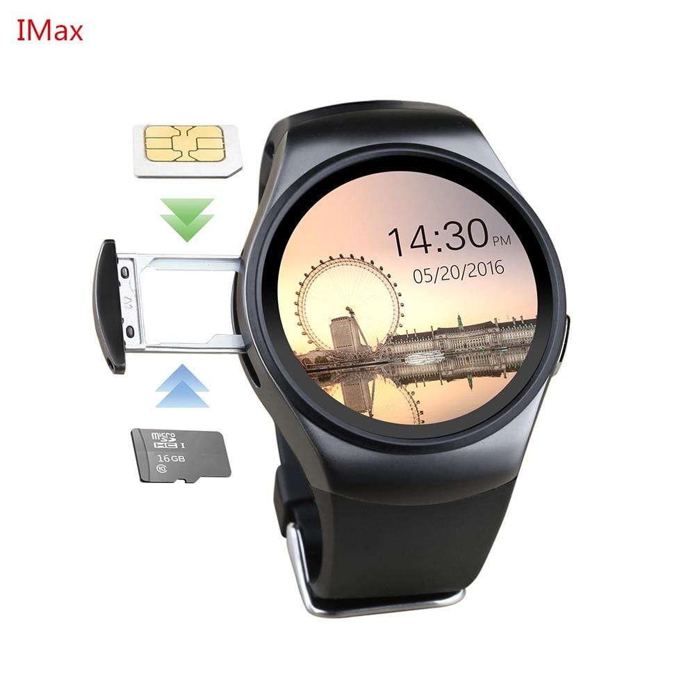 Chaud! KW18 montre intelligente SIM TF MTK2502 moniteur de fréquence cardiaque Smartwatch écran tactile bluetooth montre-bracelet pour apple android IOS téléphone