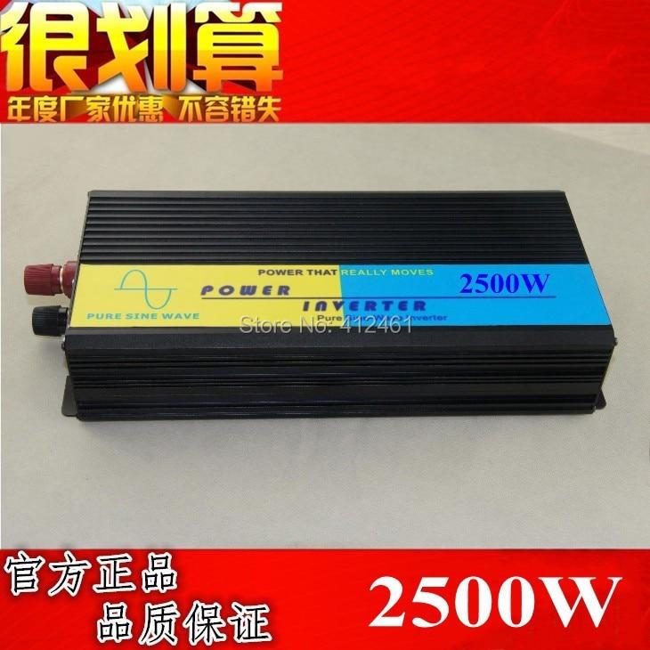 цена на 2500W pure sine wave inverter 12V DC TO 220V AC Pure Sine Wave Power Inverter,5000w Peak power inverter