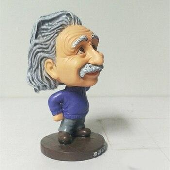 Einstein Artesanías Estatua De Ornamentos Personalidad De Resina Creativa Coche Decoración De Escritorio Estatua Ornamental Para Regalo De Cumpleaños De Acción De Gracias