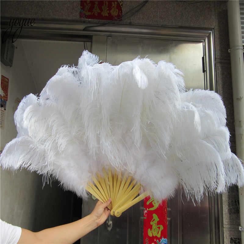 ¡Nueva inclusión! Gran abanico de plumas de avestruz rojas de alta calidad, decoración para fiesta de Halloween, para bailarines del vientre, DIY, 12 barras de plumas