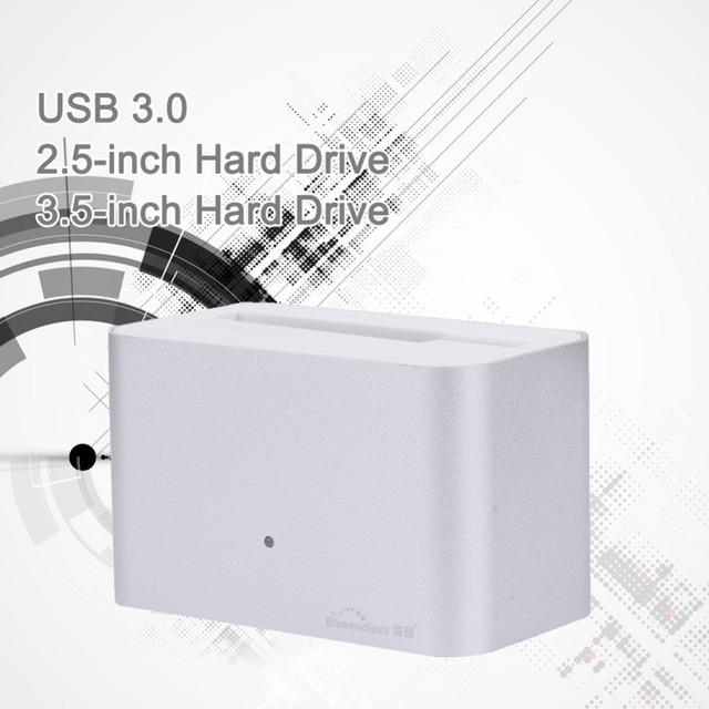 De aluminio caja de disco duro de recuperación de datos USB 3.0 5 GBPS hdd caddy 2.5 soporte para disco duro externo de 4 TB sata 3.5 hdd case'' HD01U3