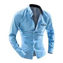 2016 рубашки мужские в горошек рубашка Slim Fit CHEMISE Homme с длинным рукавом рубашки мужчины heren Hemden тонкий Camisa masculinaxxl