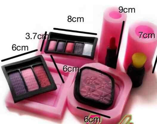 ... Cake Mold perfume bottle make up makeup Kit Powder lip Silicone Mold Fondant TOOLS Cake Decorating