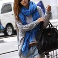 New Women Scarf Girl Candy Color Long Fashion Slight Soft Silk Chiffon Wrap Shawl Pashmina Winter And autumn Scarves For Lady