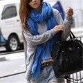Novas Mulheres Cachecol Menina Doce Cor Longo Moda Leve Suave Chiffon de seda do Envoltório do Xaile do Pashmina Lenços de Inverno E outono Para senhora