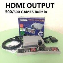 HDMI Mini ТВ Ручной игровой консоли для ne игры с 500/600 различных Встроенные игры PAL и NTSC