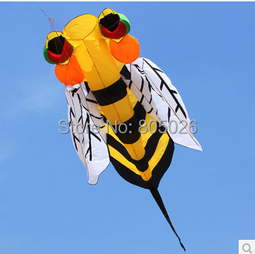 ФОТО free shipping high quality 3.5m large Bee soft Kite fabric with handle line train hot rod outdoor toys power kite flying