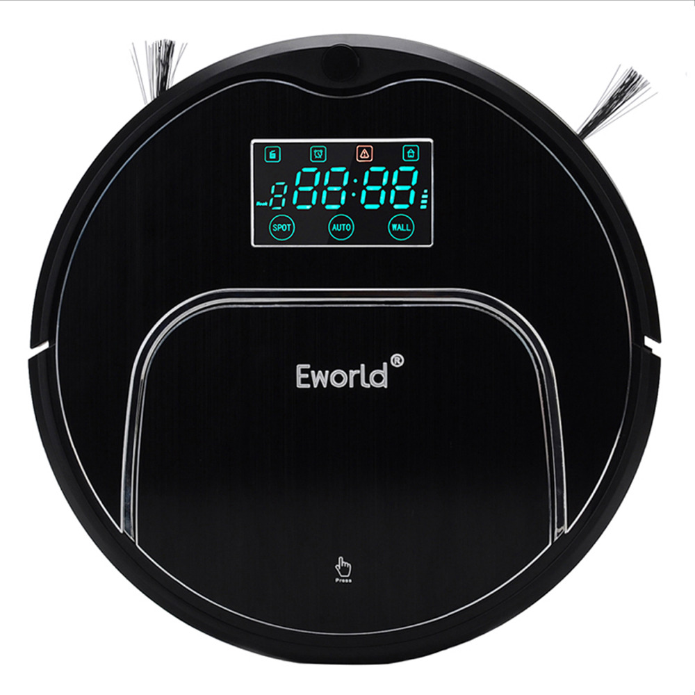 цена на Eworld Robot Vacuum Cleaner M883 For Home House Floor MOP Cordless Clean robot sweeper with Auto recharging Remote controller