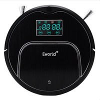 Eworld Robot Vacuum Cleaner M883 For Home House Floor MOP Cordless Clean robot sweeper with Auto recharging Remote controller