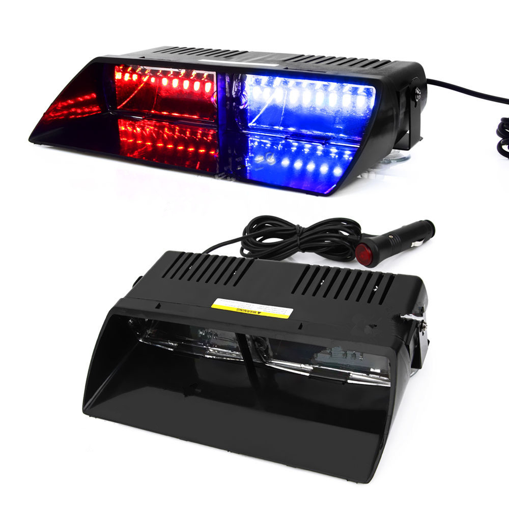 CYAN SOIL BAY 16 LED Red/Blue Car Police Strobe Flash Dash Emergency 18 Flashing 16LED Light cyan soil bay 240 led red car police emergency beacon harzard magnetic flash strobe light bar