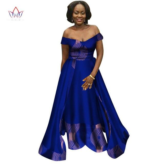 b1cae0c33c2 2019 Autumn Women traditional african dresses Brand Custom Clothing Africa  Wax Dashiki Slim long Dress big size 6xl BRW WY2369