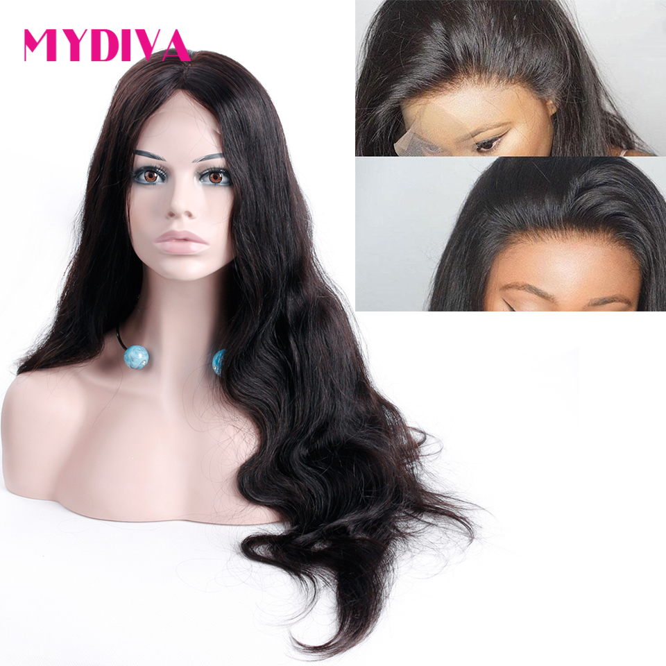 360 Lace Frontal Wigs For Women Malaysian Body Wave Lace Front Human Hair Wigs Pre Plucked
