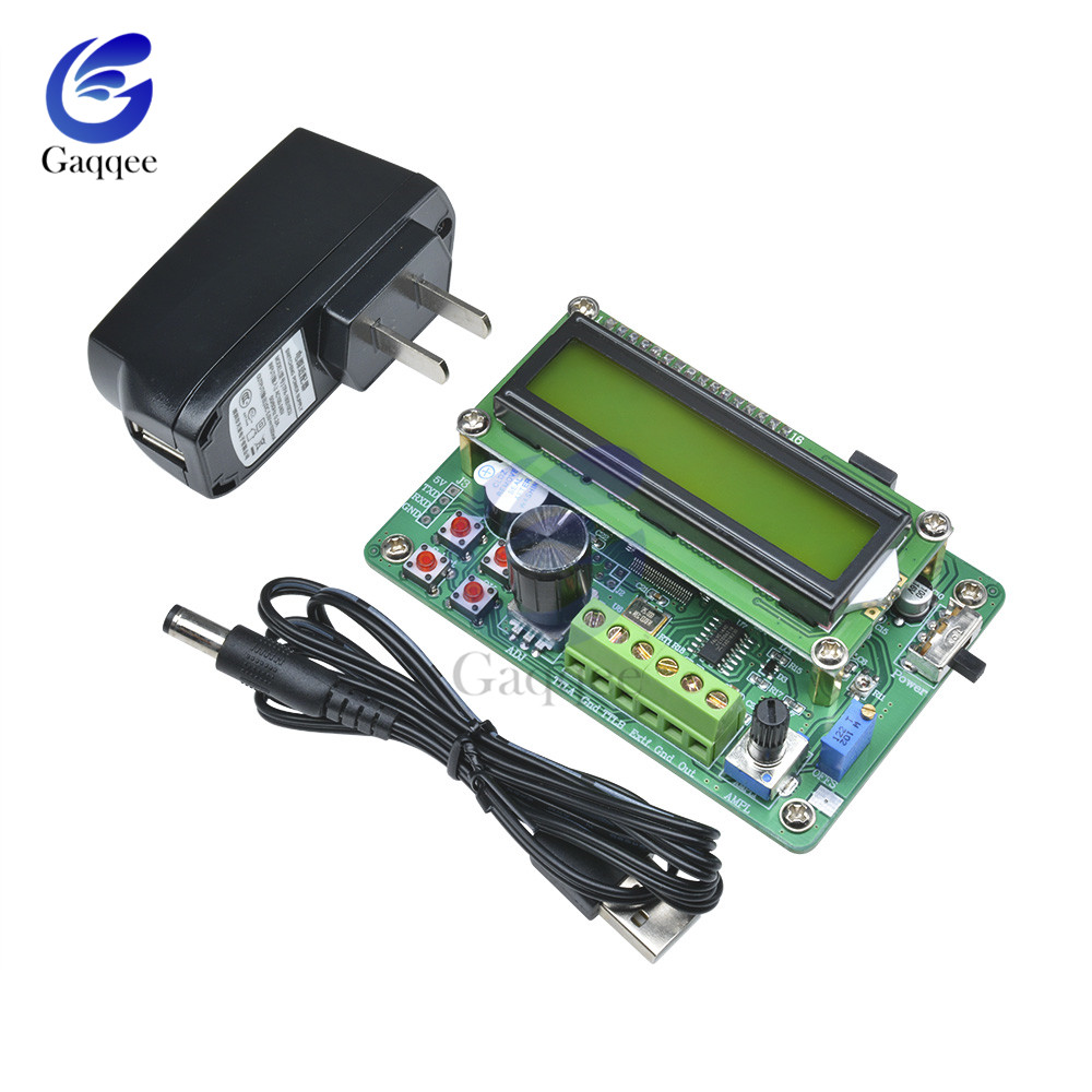 0.01Hz - 5MHz DDS Function Signal Generator Module 1602 LCD Display Sine Triangle Square Wave TTL Output Storage Recall Counter0.01Hz - 5MHz DDS Function Signal Generator Module 1602 LCD Display Sine Triangle Square Wave TTL Output Storage Recall Counter