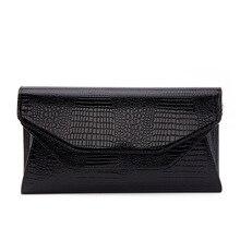 Роскошный женский клатч из натуральной кожи с узором «крокодиловая кожа», кожаная сумка на плечо, вечерние клатчи, кошелек, сумочка на цепочке, сумка-мессенджер