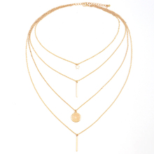 Fashion Woman Multi Layers Star Necklace Chain Jewelry Collier Femme Jewelry Tassel Pendant copper Choker Gold Color Necklace multi color fashion bk jewelry red rope magnetic 5 layers strands choker statement necklace