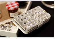 Bling Square Diamond Flip Wallet Leather Phone Case For IPhone 6 6S Plus 5S 4S Samsung