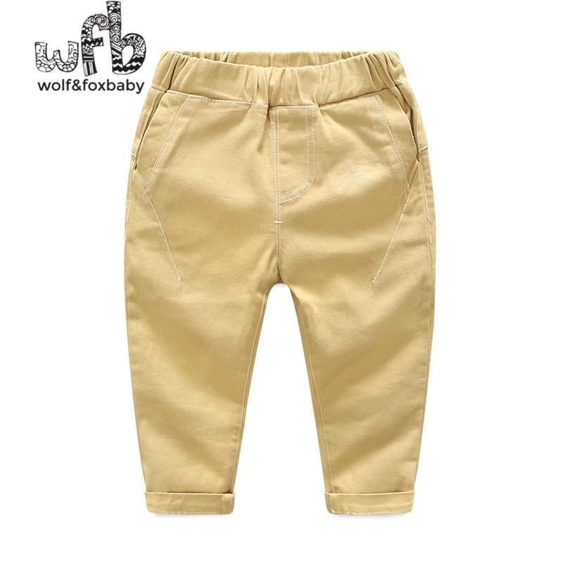 Détail 2-8 ans pantalon solide couleur casual pantalons couleur de sucrerie de garçon printemps automne automne